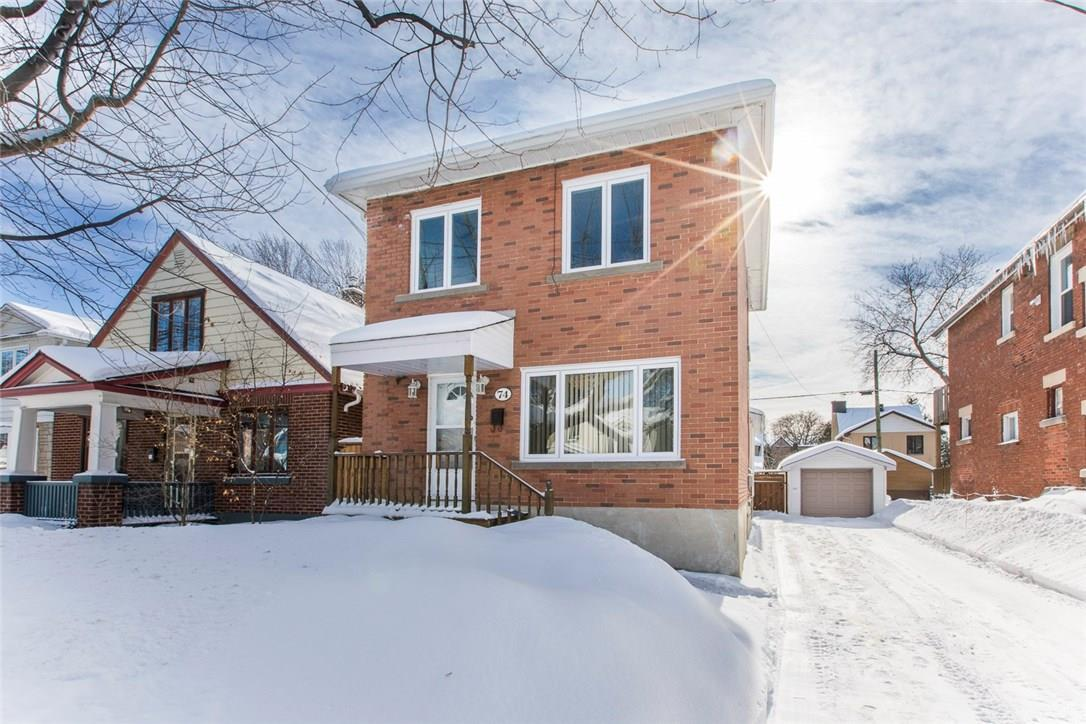 74 Glynn Avenue, Ottawa, Ontario K1K1S8