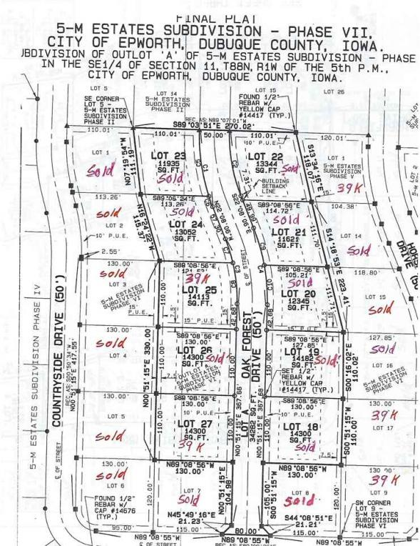Lot 27 Oak Forest Dr, Epworth, IA 52045