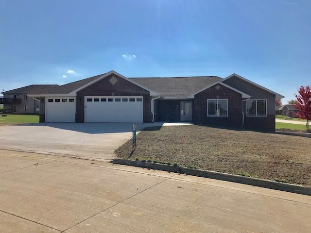 New ranch home in Peosta with 3 car garage.  9496 Cashel Dr. Peosta, IA.