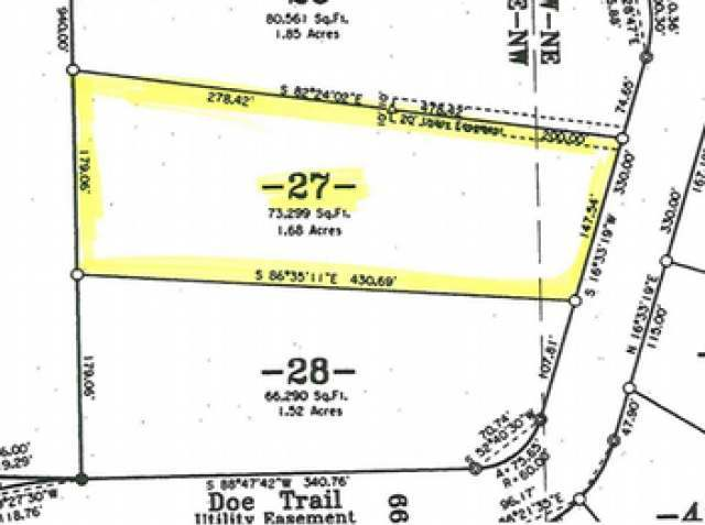 ON Doe Tr #Lot 27, Eagle River, WI 54521