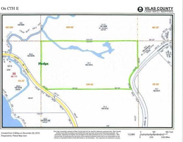 ON Cth E #19.22acres, Phelps, WI 54554