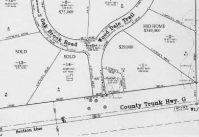 4&10-12 Wood Dale Tr #Lots, Cloverland, WI 54521