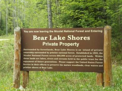 1.65 Ac. Bear Lake Rd, Blackwell, WI 54566