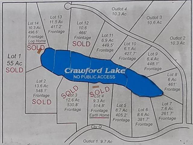 Lot #8 Crawford Lake Rd, Nashville, WI 54465