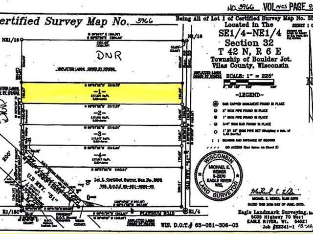 NEAR Old 51 Rd #Lot 1, Boulder Junction, WI 54512