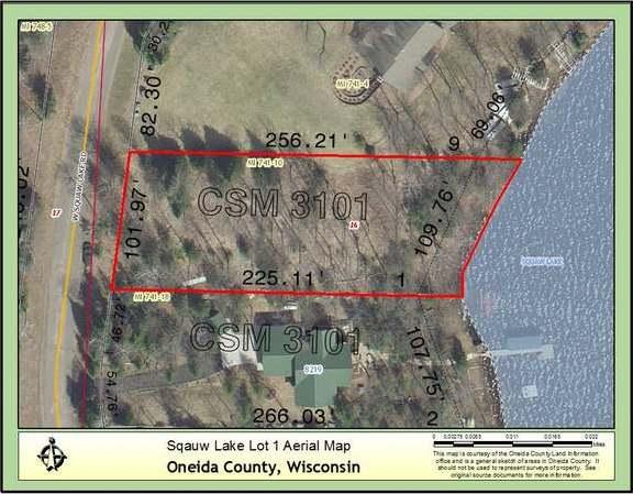 ON Squaw Lake Rd W #Lot 1, Minocqua, WI 54548