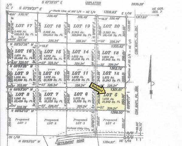 ON Settlement Rd #Lot 5, Long Lake, WI 54542