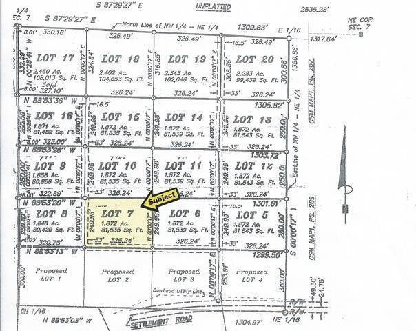 ON Settlement Rd #Lot 7, Long Lake, WI 54542