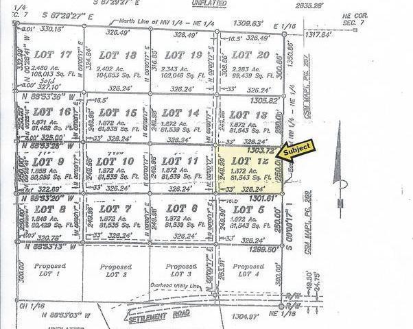 ON Settlement Rd #Lot 12, Long Lake, WI 54542