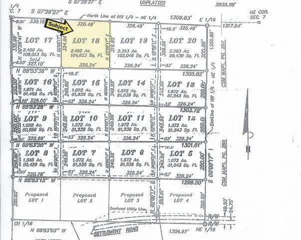 ON Settlement Rd #Lot 18, Long Lake, WI 54542