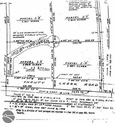 Lot 1-B,C,D Shanty Creek Road, Bellaire, MI 49615