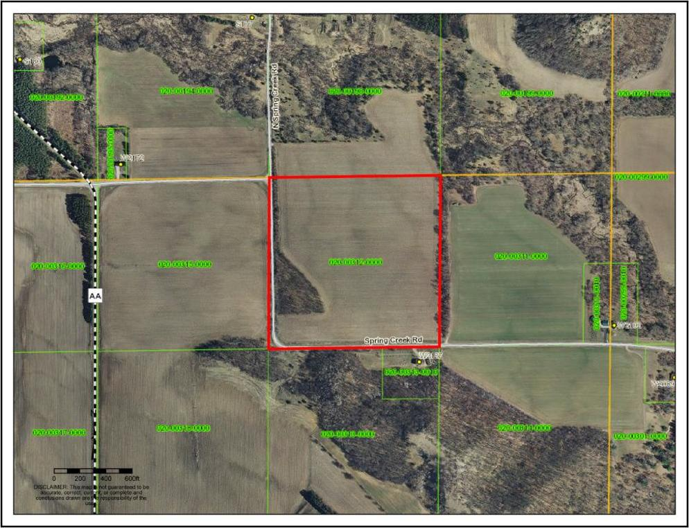 Spring Creek Road, Maxville Twp, WI 54736