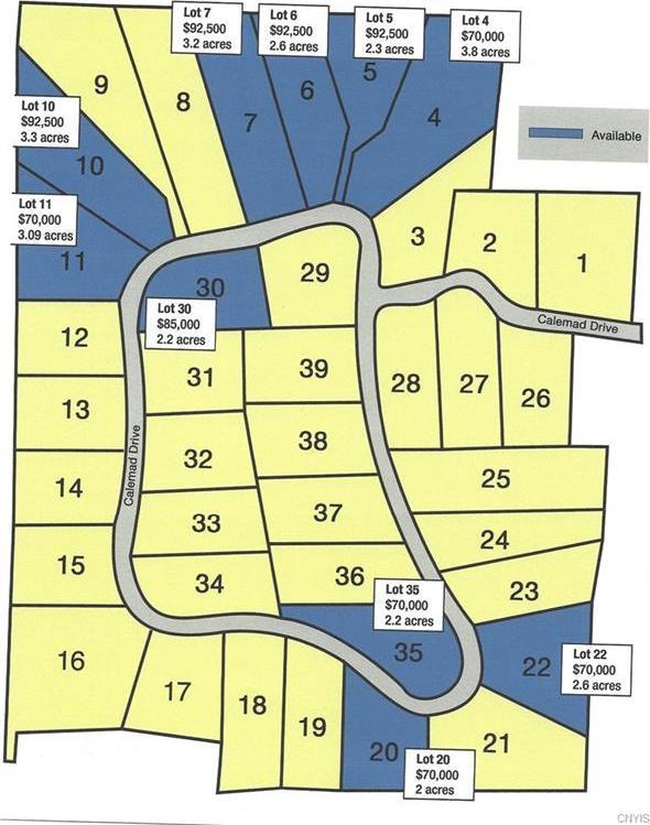 Lot #22 Calemad Drive, Sennett, NY 13021