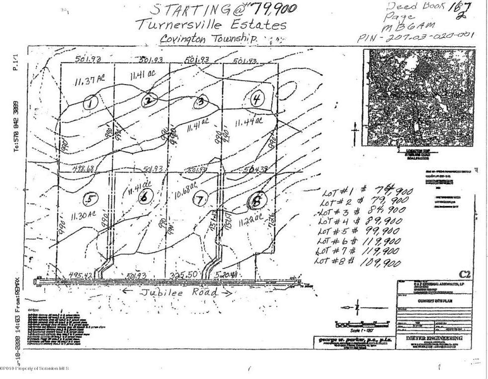 LOT 3 Jubilee Rd-turnersville, Covington Twp, PA 18424