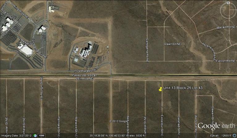 Excalibur St(u13, B 25, L43) NE, Rio Rancho, NM 87144